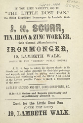 Advert for JH Scurr, ironmonger